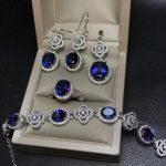 MeiBaPJ Classic Natural Royal Tanzania Blue Topaz Jewelry Set 925 <b>Silver</b> 4 Siut Fine Jewelry Wholesale recommendation