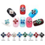 9mm 3D Flower Shape <b>Jewelry</b> Nail Art Glitter Silver Alloy Manicure <b>Supplies</b> Crystal Rhinestone For Nail Art Decorations