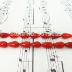 Natural Bamboo Coral Drilled Teardrop Beads,Red Coral Loose Beads Charms Earrings <b>Jewelry</b> <b>Supplies</b> 5x10mm