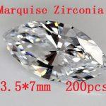 Free shipping!HOT SALE ! 200pcs/pack Marquise Shape Zircon AAA Grade Cubic Zirconia 3.5*7MM DIY <b>Jewelry</b> Findings <b>Supplies</b>