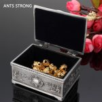 ANTS STRONG metal carved <b>jewelry</b> storage box/Retro princess small <b>jewelry</b> boxes Tin alloy engraving inishing <b>supplies</b>