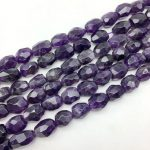BEADZTALK A Quality Natural Purple Crystal Beads Faceted Egg Oval Stone Spacer 12-16 mm DIY <b>Jewelry</b> Making <b>Supplies</b> Rare Bead