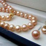 Women's Wedding shipping>8-9MM Natural Pink Akoya Cultured Pearl necklace earrings set 18″/A106 real silver-<b>jewelry</b>