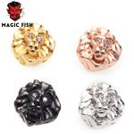 Magic Fish 10pcs lion head DIY beads Fashion Lion head Copper Wholesale charms hand made <b>supplies</b> for <b>jewelry</b> macrame cord