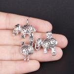 10pcs Silver Elephant Pearl Cage <b>Jewelry</b> Making <b>Supplies</b> Bead Cage Pendant Essential Oil Diffuser For Oyster Pearl <b>Jewelry</b>