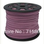 Free Ship 100 Yard/row 3mm x1.5mm Purple 92m Faux Suede Leather Cord, Leather String Cord, DIY Cord <b>Supplies</b>
