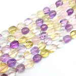 Natural Colorful Mixed Yellow Pink Purple Crystal Beads Smooth Nugget Oval Spacer 10-14 mm DIY <b>Jewelry</b> Making <b>Supplies</b>