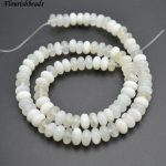 Wholesale 5x8mm Natural White Xinshan Jade Stone Rondelle Spacer Loose Beads Fashion <b>Jewelry</b> making <b>supplies</b> 5 strands per lot