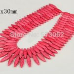 15.5 inches strand of Smooth Horse Eye Pink Howlite Beads, Loose Tur quoise Pendant Beads <b>Jewelry</b>, Craft <b>Supplies</b>