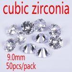 Wholesale <b>Jewelry</b> <b>Supplies</b> AAA Grade CZ White Cubic Zirconia Round Zircon 9.0MM DIY bead <b>Jewelry</b> Findings <b>Supplies</b> Free Shipping