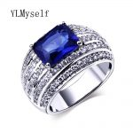 2018 new Costume female <b>jewelry</b> ring <b>supplies</b> dropshipping pave Square Green, Blue and Clear CZ stone Fashion Rings for women