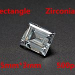 MRHUANG Shine!<b>Jewelry</b> <b>Supplies</b> AAA Brilliant Cuts 1.5*3mm Rectangle Shape Clear Color Cubic Zirconia Stone Beads For <b>Jewelry</b> Diy