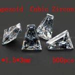 <b>Jewelry</b> <b>Supplies</b> 500pcs/pcak AAA Grade CZ Cubic Zirconia Trapeziod Zircon 1*1.5*3MM DIY <b>Jewelry</b> Findings <b>Supplies</b> Free Shipping