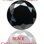 MRHUANG <b>Jewelry</b> <b>Supplies</b> AAA Grade CZ Cubic Zirconia BLACK Round Zircon 7.0mm/8.0MM DIY <b>Jewelry</b> Findings <b>Supplies</b> Free Shipping