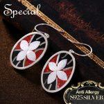 Special Brand Fashion 925 <b>Sterling</b> <b>Silver</b> Drop <b>Earrings</b> Enamel Ear Hook Sea Shell New Jewelry Gifts for Women S1650E