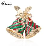 korean style trendy fashion brooches Small bell Santa Claus Christmas <b>jewelry</b> harajuku metal zinc alloy women the pins gift