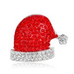 MayJin 2017 Christmas hat Valentines Gifts Rhinestone Crystal Brooch Pins Bridal Wedding Collar Lapel Pin Party <b>Jewelry</b>