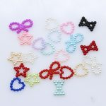 100p Assorted Heart Star FlatBack Pearl For Scrapbook <b>Jewellery</b> Craft Nail Art <b>Decoration</b> DIY Wedding Cards Making Sew on Beads