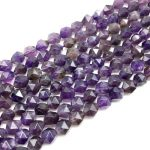 High Quality Natural Purple Crystal Stone Beads Nugget Spacer Faceted Hand Cut Cube Bicone 5 9 mm DIY <b>Jewelry</b> Making <b>Supplies</b>