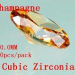 MRHUANG <b>Jewelry</b> <b>Supplies</b> AAA Grade CZ Cubic Zirconia Champagne Round Zircon 10.0MM DIY <b>Jewelry</b> Findings <b>Supplies</b> Free Shipping