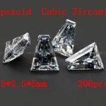 <b>Jewelry</b> <b>Supplies</b> 200pcs/pcak AAA Grade Cubic Zirconia Trapeziod Zircon 1.5*2.5*5MM DIY <b>Jewelry</b> Findings <b>Supplies</b> Free Shipping