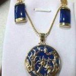 Women's Wedding beautiful blue gem Earrings pendant set h silver-<b>jewelry</b> brinco wedding real silver-<b>jewelry</b> silver-<b>jewelry</b>