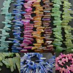 DIY <b>Jewelry</b> making <b>Supply</b> Mix Bright color Natural Crystal Quartz Stone Point rough stone loose beads Mineral 5 strands per lot
