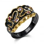 Black Rings for girl cubic zircon color stone finger Ring party fashion <b>jewelry</b> <b>supplies</b> for <b>jewelry</b> Free shipment