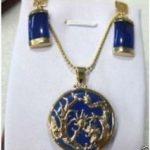 Natural Prett Lovely Women's Wedding Wholesale noble purple gem pendant & Earrings sets silver-<b>jewelry</b> wedding