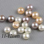 half drilled pearl pairls,11-12mm large pearl beads,big size freshwater pearl pair,white,pink,purple,<b>jewelry</b> material <b>supply</b>