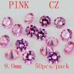 MRHUANG <b>Jewelry</b> <b>Supplies</b> AAA Grade CZ Cubic Zirconia PINK Round Zircon 9.0mm/10.0MM DIY <b>Jewelry</b> Findings <b>Supplies</b> Free Shipping