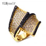 Party <b>jewelry</b> <b>supplies</b> ring fashion jewellery High quality designer Black cz Gold color rings for women wholesale a lot china
