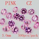 MRHUANG AAA Grade CZ Cubic Zirconia PINK Round Zircon Stone 3.0/3.5/4.0MM DIY <b>Jewelry</b> Findings <b>Supplies</b> Free Shipping