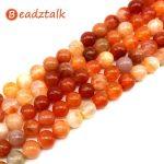 Beadztalk Red Chalcedony Stone Beads Round 8 mm 10 mm Bead No Dyed DIY Making <b>Jewelry</b> <b>Supplies</b> For Designers