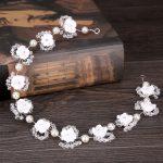 White bridal flower headband wedding headdress wedding dress accessories bridal <b>jewelry</b> wedding <b>supplies</b> bridal headdress