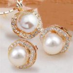 Women's Wedding GP crystal pearl necklace earrings <b>jewelry</b> set silver <b>jewelry</b> brinco real silver <b>jewelry</b>