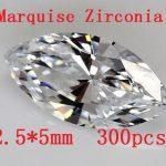 MRHUANG Free shipping! 300pcs/pack Marquise Shape Zircon 2.5*5MM AAA Grade Cubic Zirconia DIY <b>Jewelry</b> Findings <b>Supplies</b>