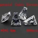 <b>Jewelry</b> <b>Supplies</b> 500pcs/pcak AAA Grade CZ Cubic Zirconia Trapeziod Zircon 1*2*2.5MM DIY <b>Jewelry</b> Findings <b>Supplies</b> Free Shipping