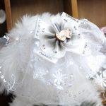 2016 new small dog pet <b>supplies</b> dog <b>jewelry</b> white LOVE double heart bow Free Shipping