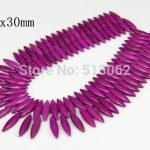 15.5 inches Horse Eye Purple Howlite Beads, Loose Tur quoise Beads <b>Jewelry</b>, Natural Beads <b>Supplies</b> for DIY Making
