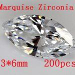 MRHUANG Free shipping! AAA Grade Cubic Zirconia 200pcs/pack Marquise Shape Zircon 3*6MM DIY <b>Jewelry</b> Findings <b>Supplies</b>