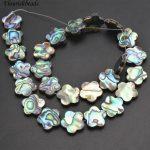 10mm 16mm Natural Abalone Shell Plum Blossom Flower Shape Loose Beads DIY <b>Jewelry</b> Making <b>Supplies</b>