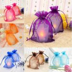 100PCS 9×12 cm 17 color ORGANZA GIFT BAGS Wedding <b>Decoration</b> Party Favour <b>Jewellery</b> Packing ,Nice Gift Bag