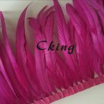 Rooster tail feather trim Hot Pink Colors DIY feather clothing <b>jewelry</b> accessories/ wedding Party <b>supplies</b> performance necessary