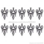 V51 Girl Angel Wings Locket Necklace Bracelet <b>Jewelry</b> Making <b>Supplies</b> Pearl Beads Cage Essential Oil Diffuser Locket Pendants