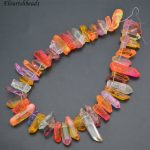 New Mix Color Natural Rough Crystal Point Graduated Stone Loose Beads DIY <b>Jewelry</b> Making <b>Supplies</b>