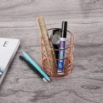 Openwork metal Multifunction Pen holder Desktop office <b>supplies</b> Storage barrels cosmetic <b>jewelry</b> Storage