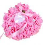 1Pc <b>Jewelry</b> Box Wedding Ring Pillow Heart Box With Ribbon Pearl For Wedding <b>Supplies</b> Gift Hot Sale Dropshipping R30