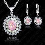 JEXXI Vintage 925 <b>Sterling</b> <b>Silver</b> Jewelry Sets For Women Fashion Cubic Zirconia Wedding Bridal Necklace <b>Earring</b> Set Accessory