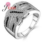 PATICO Luxury Women Wedding Engagement <b>Rings</b> 100% 925 <b>Sterling</b> <b>Silver</b> Jewelry CZ Crystal <b>Ring</b> Vintage Fine Jewelry